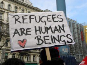 """""""Los refugiados son seres humanos"""""""